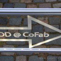 Acrylfoto LED beleuchtet als Werbeschild
